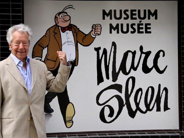 Marc Sleen voor het museum